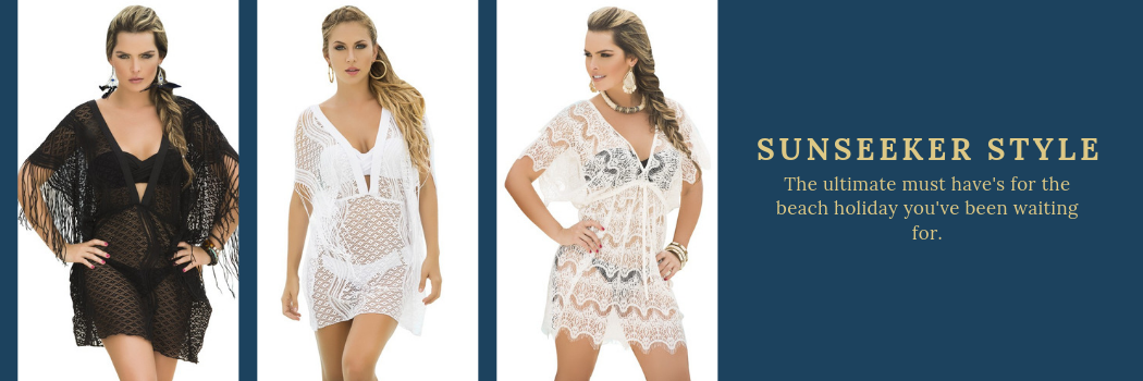 Shop the beach collection, swimwear, cover up's by Mapale, AM:PM